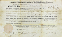 James Monroe Signed Document (Beckett LOA)