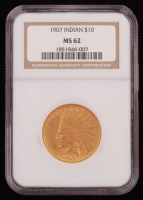 1907 Indian $10 Ten Dollar (NGC MS 62) at PristineAuction.com