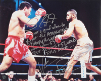 Vinny Pazienza & Roy Jones Jr. Signed 16x20 Photo with Extensive Inscription (JSA COA) at PristineAuction.com