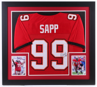 Warren Sapp Signed 31x35 Custom Framed Jersey (JSA COA) at PristineAuction.com