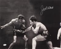 Jake LaMotta Signed 16x20 Photo (JSA COA)