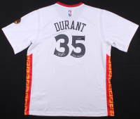 "Kevin Durant Signed LE Golden State Warriors Chinese New Year Adidas Jersey Inscribed ""Dub Nation"" (Panini COA)"