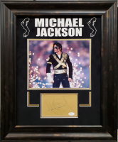 Michael Jackson Signed 18.5x22.5 Custom Framed Cut Display (JSA LOA) at PristineAuction.com