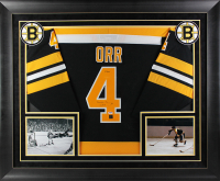 "Bobby Orr Signed 32x37 Custom Framed CCM Jersey Inscribed ""3x MVP"" (PSA COA & Great North Road COA) at PristineAuction.com"