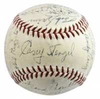 1955 New York Yankees Baseball Team-Signed by (26) with Yogi Berra, Whitey Ford, Mickey Mantle, Billy Martin, Moose Skowron (PSA LOA)