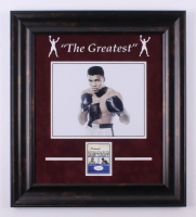 Muhammad Ali Signed 18x20 Custom Framed Trading Card Display (JSA LOA)