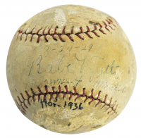 Babe Ruth Signed Baseball (PSA LOA - Graded 2.5)