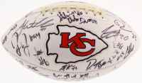 2017 Kansas City Chiefs Logo Football Signed by (44) with Patrick Mahomes, Eric Berry, Travis Kelce, Tyreek Hill, Justin Houston (JSA LOA)