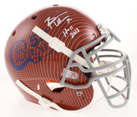 "Brian Urlacher Signed Chicago Bears Full-Size Authentic On-Field Hydro Dipped Helmet Inscribed ""HOF 2018"" (Beckett Hologram)"