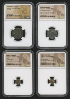 Lot of (4) Ancient Coins with Dates from 200 B.C. to 668 A.D. Includes Greek, Roman & Byzantine Era Coins (NGC Encapsulated) at PristineAuction.com