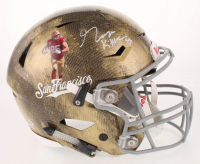George Kittle Signed San Francisco 49ers Full-Size Authentic On-Field Hydro Dipped SpeedFlex Helmet (Beckett COA)