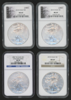 Lot of (4) American Silver Eagle $1 One Dollar Coins (NGC MS69)