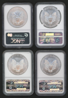 Lot of (4) American Silver Eagle $1 One Dollar Coins (NGC MS69) at PristineAuction.com