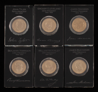 Lot of (6) Encapsulated Presidential Dollars with James Madison, John Tyler, Grover Cleveland