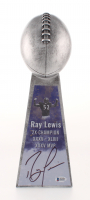 Ray Lewis Signed Large Lombardi Trophy (Beckett COA)