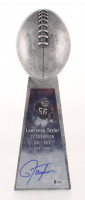 Lawrence Taylor Signed Large Lombardi Trophy (Beckett COA)