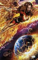 "Greg Horn Signed ""Jean Grey Dark Phoenix"" 11x17 Lithograph (JSA COA)"