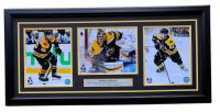 Brad Marchand, David Pastrnak & Patrice Bergeron Boston Bruins 18x30 Custom Framed Photo Display