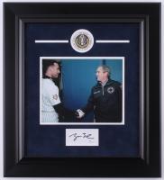 George W. Bush Signed 18.75x20.75 Custom Framed Cut Display (JSA COA)