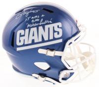 "Lawrence Taylor Signed New York Giants Full-Size Throwback Speed Helmet Inscribed ""LT Was A Bad Motherf***er"" (TriStar Hologram) at PristineAuction.com"