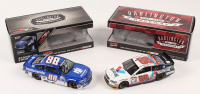 Lot of (2) Dale Earnhardt Jr. LE 1:24 Scale Die Cast Cars with (1) Signed #88 Nationwide Darlingtion 2017 SS & (1) #88 Valvoline 2015 SS (RCCA COA)