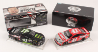 Lot of (2) Kurt Busch LE 1:24 Scale Die Cast Cars with (1) Signed #41 HAAS Automation Darlington 2018 Fusion Elite - Autographed  & (1) #41 Monster Haas Automation 2017 Fusion (RCCA COA)