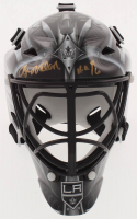 "Rogie Vachon Signed Kings Mini Goalie Mask Inscribed ""H.O.F. 16"" (Schwartz COA) at PristineAuction.com"
