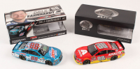 Lot of (2) Dale Earnhardt Jr. LE 1:24 Scale Die Cast Cars with (1) Signed #88 Mountain Dew-S-A Autographed 2017 SS & (1) #88 Axalta 2016 SS Elite (RCCA COA)