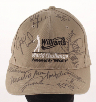 Williams World Challenge Golf Hat Signed by (13) with Tiger Woods, Phil Mickelson, Vijay Singh, Mark O'Meara (Beckett LOA)