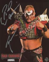 Road Warrior Animal Signed WWE 8x10 Photo (Legends COA)