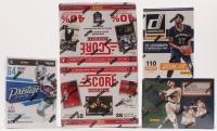 Lot of (4) Unopened Card Sets with 2016 Prestige Football Box, 2016-17 Panini Donruss Basketball, 2019 Panini Diamond Kings Baseball Hobby Box & 2013-14 Panini Score Hockey Box at PristineAuction.com