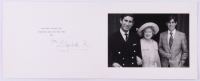Queen Elizabeth I, The Queen Mother Signed 1975 Christmas Card Photo Folder (Beckett LOA)
