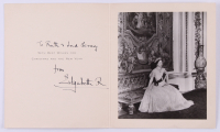 Queen Elizabeth I, The Queen Mother Signed Christmas Card Photo Folder (Beckett LOA)