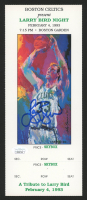 Larry Bird Signed Commemorative Print Boston Gard Ticket (JSA COA)