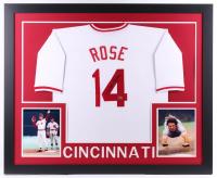 Pete Rose Signed Cincinnati Reds 35x43 Custom Framed Jersey (Fiterman Sports Hologram)