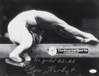 "Olga Korbut Signed 11x14 Photo Inscribed ""4x Gold 72 - 76"" (JSA COA)"