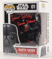 "Spencer Wilding Signed ""Star Wars"" - Darth Vader #01 Funko Pop! Vinyl Figure Inscribed ""Darth Vader"" & ""R1"" (PA COA) at PristineAuction.com"