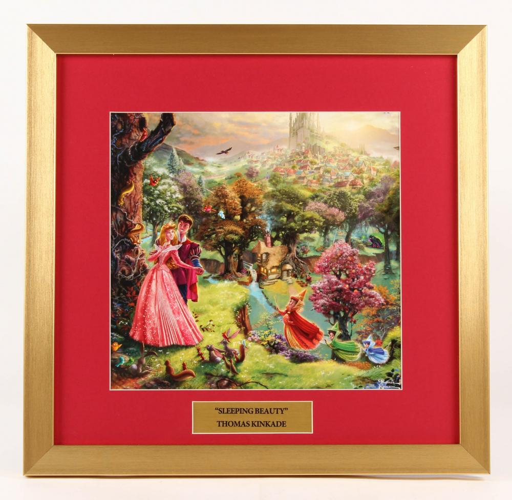 "Thomas Kinkade Walt Disney's ""Sleeping Beauty"" 17.5x18 Custom Framed Print at PristineAuction.com"