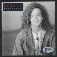 """Kenny G Signed """"Breathless"""" CD Cover Insert Booklet (Beckett COA)"""