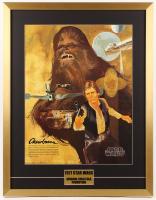 Vintage 1977 Coca Cola Star Wars 24x31 Custom Framed Poster Display