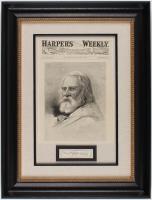 Henry Wadsworth Longfellow Custom Framed 19.5x25.5 Cut Display (PSA LOA)