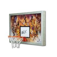 "Magic Johnson Signed LE Los Angeles Lakers ""Champion"" 18.5x30.5 Custom Framed Backboard Display (UDA COA) at PristineAuction.com"