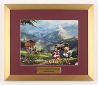"""Thomas Kinkade Walt Disney's """"Mickey & Minnie in Ireland"""" 15.5x18 Custom Framed Print"""