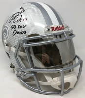 """Drew Brees Signed New Orleans Saints Full-Size Authentic On-Field Hydro Dipped Speed Helmet with Visor Inscribed """"SB XLIV Champs"""" (Steiner COA) at PristineAuction.com"""