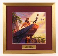 "Thomas Kinkade Walt Disney's ""The Lion King"" 17.5x18 Custom Framed Print"
