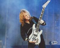 "David Ellefson Signed ""Megadeth"" 8x10 Photo (Beckett COA)"
