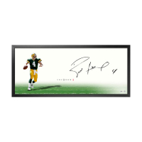"Brett Favre Signed ""The Show"" 20x46 Custom Framed Photo (UDA COA)"