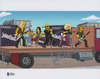 """Rob Halford Signed """"The Simpsons"""" 8x10 Photo (Beckett COA)"""