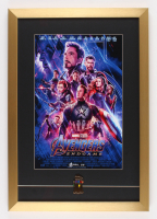 """Avengers: Endgame"" 17x24.5 Custom Framed Movie Poster Display with Brass Thanos Glove Pin"