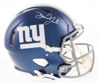 Daniel Jones Signed New York Giants Full-Size Authentic On-Field Speed Helmet (Beckett COA) at PristineAuction.com